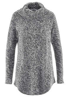 Sweter poncho, długi rękaw-bpc bonprix collection
