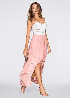Sukienka z dłuższym tyłem i dekoltem w kształcie serca-BODYFLIRT