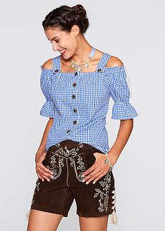 Bluzka w stylu ludowym, krótki rękaw-bpc bonprix collection