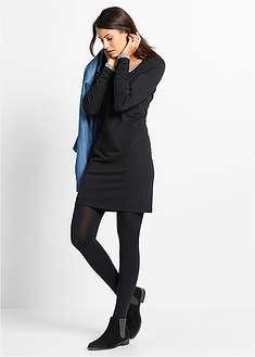 Strečové úpletové šaty s dlhým rukávom-bpc bonprix collection