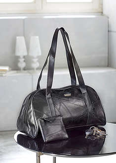 Kožená taška, 2 -dielna-bpc bonprix collection