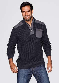 Sweter ze stójką Slim Fit-John Baner JEANSWEAR