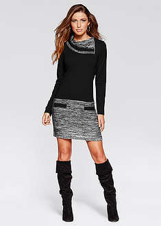 Rochie tricotată cu mâneci lungi-