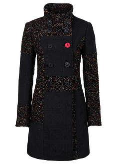 Płaszcz w połączeniu różnych materiałów i wzorów-RAINBOW