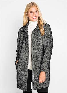 Luźniejszy płaszcz z materiału o wyglądzie wełny-bpc bonprix collection